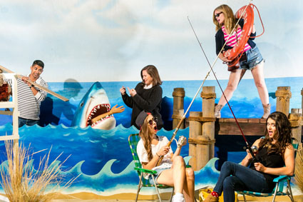 Cinespia Images - Photo booth pictures from the Cemetery movie screening of 'Jaws.' © Cinespia