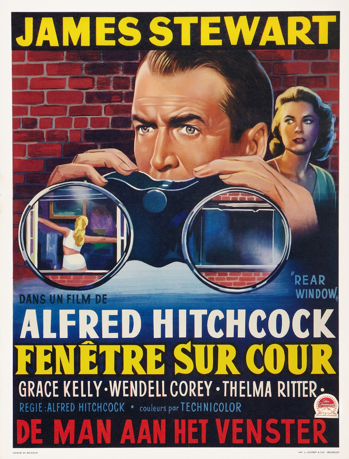 Rear Window (Paramount, 1954). Belgian