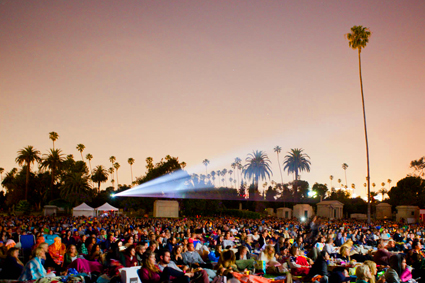 Cinespia Outdoor Films - Hollywood Forever Cemetery images of Memorial Day weekend movie screening of 'Jaws' & 'Almost Famous' © Cinespia