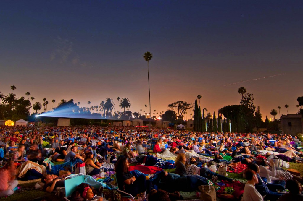 Cinespia Hollywood Forever Cemetery Outdoors
