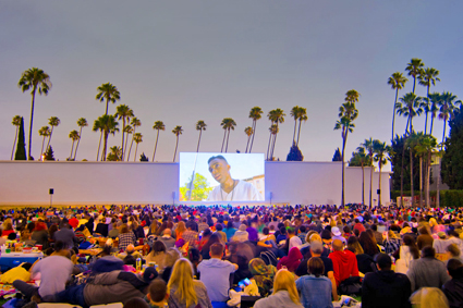 "Cinespia Outdoor Cinema - Images - Event Photos from the Hollywood Forever Cemetery outdoor movie screening of ""Do the Right Thing."" © Cinespia"