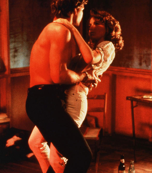 Dirty Dancing (1987)    Pers: Patrick Swayze, Jennifer Grey    Dir: Emile Ardolino    Ref: DIR002BK    Photo Credit: [ Vestron / The Kobal Collection ]    Editorial use only related to cinema, television and personalities. Not for cover use, advertising or fictional works without specific prior agreement